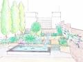 tuin bij dijkwoning perspectief