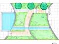tuinontwerp dijkwoning met waterloop