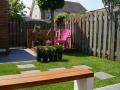 ontwerp kleine tuin Houten Utrecht - vlonderterras