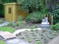 Japanse tuin met waterelement