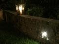 tuinverlichting in tuinmuur - tuinontwerp