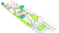 tuinontwerp grote tuin gefaseerde aanleg