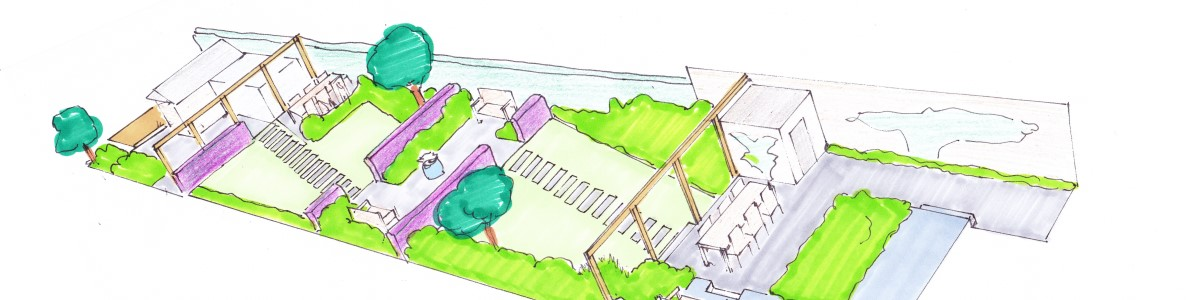 tuinontwerp grote tuin - aanleg in fases