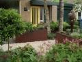 Tuinontwerp tuinarchitect Woerden Utrecht - Cortenstaal verhoogde plantenbakken