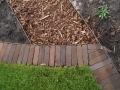 Woerden, tuinontwerp opsluitrand gras