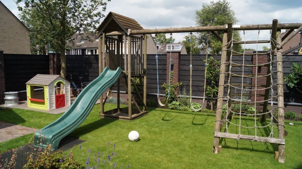 tuinontwerp kindvriendelijke tuin speelruimte gezinstuin