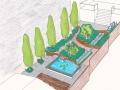 tuin bij dijkwoning 3D-tekening