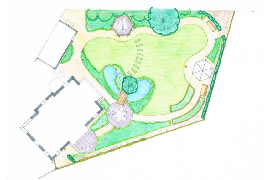 lastig perceel tuinontwerp achtertuin