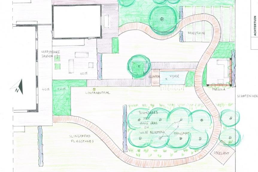 tuinontwerp landelijke ecologische tuin