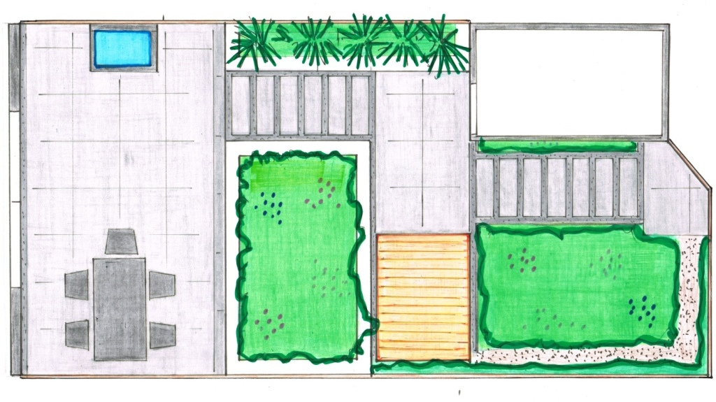 Linschoten strakke moderne tuin