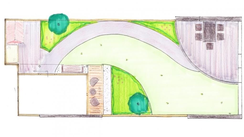 tuinarchitectuur ontwerp kindvriendelijke tuin met veranda