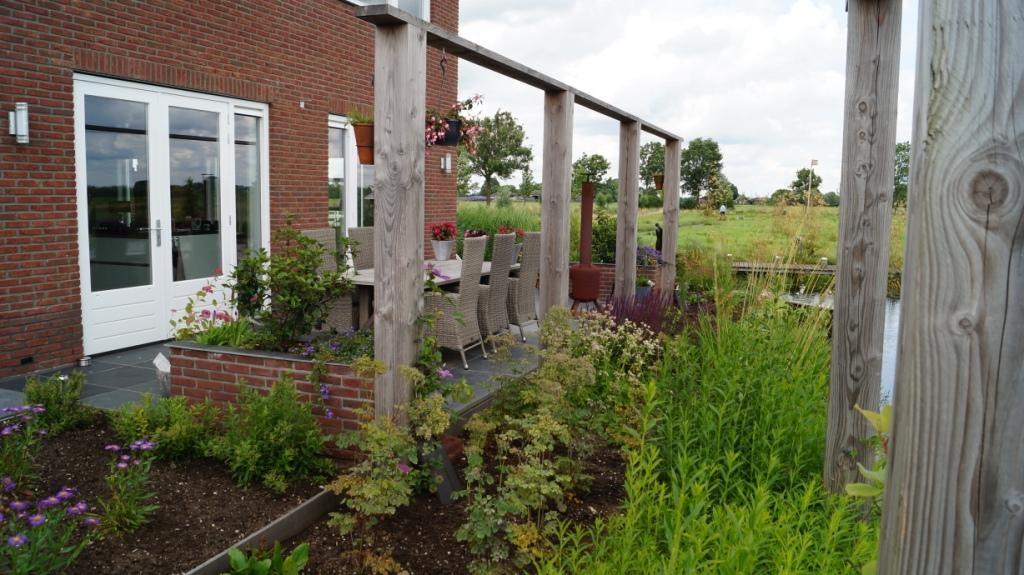 houten pergola douglas - tuinontwerp