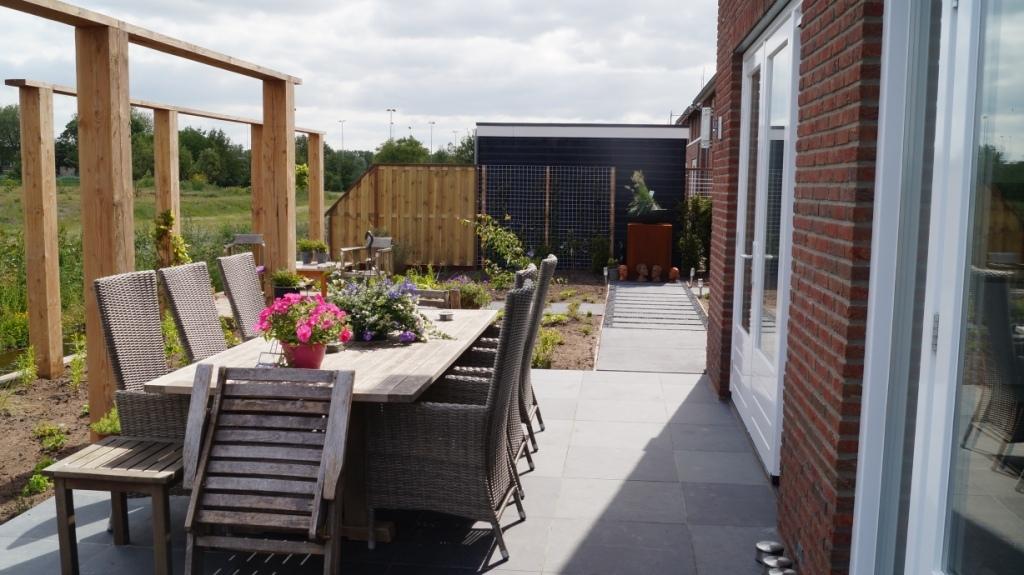 zichtlijn tuinontwerp villatuin
