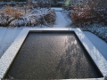 tuinontwerp Linschoten winterbeeld spiegelvijver