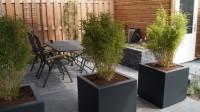 tuinontwerp kleine tuin stadstuin met groot terras